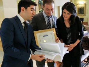 StandWithUs Thanks Nikki Haley in Petition with Over 10,000 Signatures